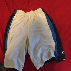 White and Blue Basketball Shorts